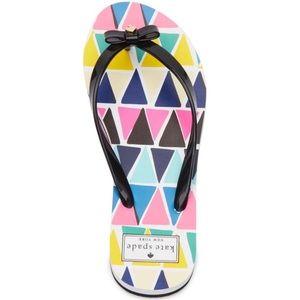 🆕 Kate Spade Nimi Triangle Print Flip Flops